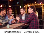 group of friends at rooftop... | Shutterstock . vector #289811423