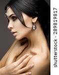 beautiful model brunette with... | Shutterstock . vector #289819817