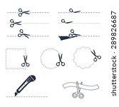 vector scissors icon set   Shutterstock .eps vector #289826687
