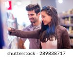 young couple shopping in a... | Shutterstock . vector #289838717