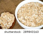 cereal in white bowl with spoon ... | Shutterstock . vector #289843163