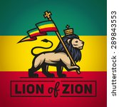 Judah Lion With A Rastafari...