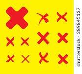 vector rejected icons set | Shutterstock .eps vector #289845137