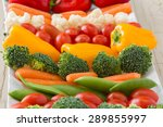 Closeup Of Vegetable Tray With...