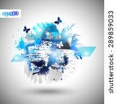 abstract vector summer party... | Shutterstock .eps vector #289859033