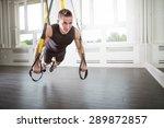 push ups on a suspension | Shutterstock . vector #289872857