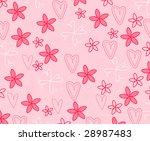 cute pink summer background | Shutterstock . vector #28987483