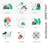 set of icons into flat style.... | Shutterstock .eps vector #289877447
