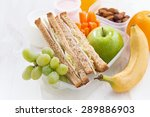 school lunch with sandwiches... | Shutterstock . vector #289886903