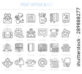 simple linear icons in a modern ... | Shutterstock .eps vector #289888277