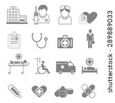 vector icons and symbols... | Shutterstock .eps vector #289889033