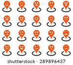 smiled location icons. vector... | Shutterstock .eps vector #289896437