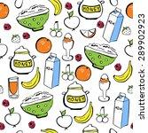 vector seamless pattern of... | Shutterstock .eps vector #289902923