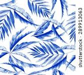 vector watercolor blue texture... | Shutterstock .eps vector #289913063