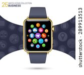 smart watch with black...