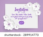 Stock vector wedding invitation card vector invitation card with abstract background and elegant frame with 289914773