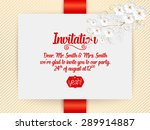 wedding invitation card. vector ... | Shutterstock .eps vector #289914887