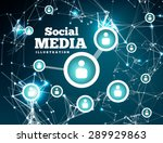 social network with dot... | Shutterstock .eps vector #289929863