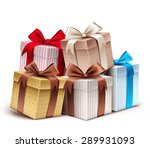 realistic 3d collection of... | Shutterstock .eps vector #289931093