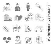vector icons  and medical... | Shutterstock .eps vector #289936847
