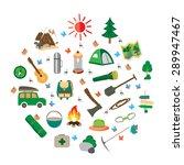 summer camp leisure park summer ... | Shutterstock .eps vector #289947467