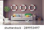 flooding in  interior. 3d...   Shutterstock . vector #289953497