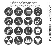 science icons set on white... | Shutterstock .eps vector #289957307