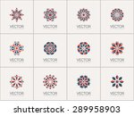 geometric logo template set.... | Shutterstock .eps vector #289958903
