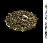 aztec pirate gold coin | Shutterstock . vector #289963283