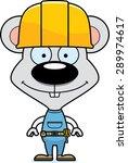 a cartoon construction worker... | Shutterstock .eps vector #289974617