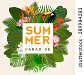 summer paradise typographical... | Shutterstock .eps vector #289984283