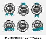 vector 100  satisfaction  retro ... | Shutterstock .eps vector #289991183