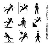 safety and accident icons set.... | Shutterstock .eps vector #289992467
