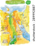 map of attractions egypt ... | Shutterstock .eps vector #289992887