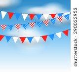 illustration hanging bunting... | Shutterstock . vector #290022953