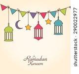 illustration celebration card...   Shutterstock . vector #290022977