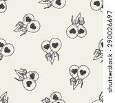love balloon doodle seamless...   Shutterstock .eps vector #290026697