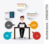 software digital design  vector ... | Shutterstock .eps vector #290030753