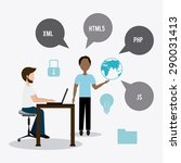 software digital design  vector ... | Shutterstock .eps vector #290031413