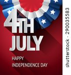 4th of july poster  vector usa... | Shutterstock .eps vector #290035583