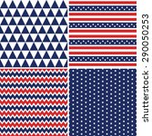 set of patriotic background... | Shutterstock .eps vector #290050253