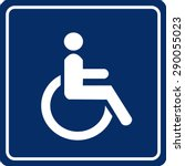 wheelchair handicap sign | Shutterstock .eps vector #290055023