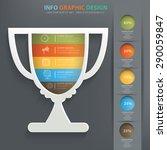 trophy info graphic design ... | Shutterstock .eps vector #290059847