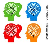 labyrinth in the heads. male... | Shutterstock .eps vector #290078183
