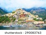 positano  italy   july 24  2012 ...   Shutterstock . vector #290083763