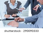 business people using laptop in ... | Shutterstock . vector #290090333
