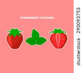 design stickers with juicy ripe ... | Shutterstock .eps vector #290093753