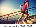 healthy lifestyle sports woman... | Shutterstock . vector #290110007