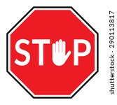 stop sign  traffic stop sign... | Shutterstock .eps vector #290113817