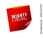 mighty deals red sticky notes... | Shutterstock .eps vector #290115737